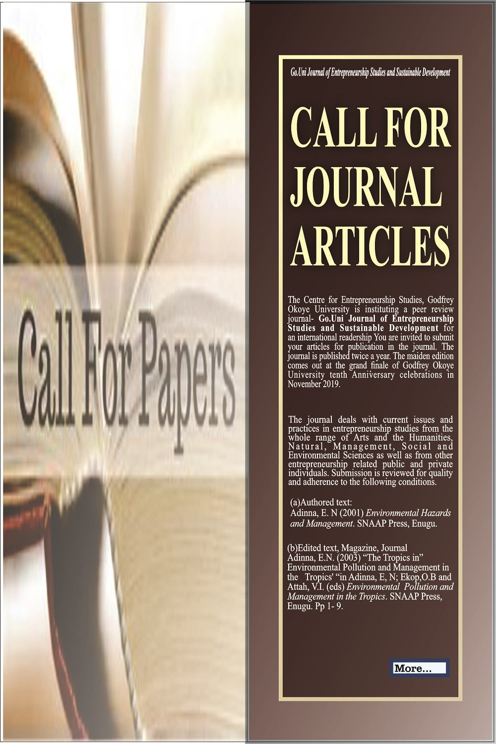 Call For Journal Articles
