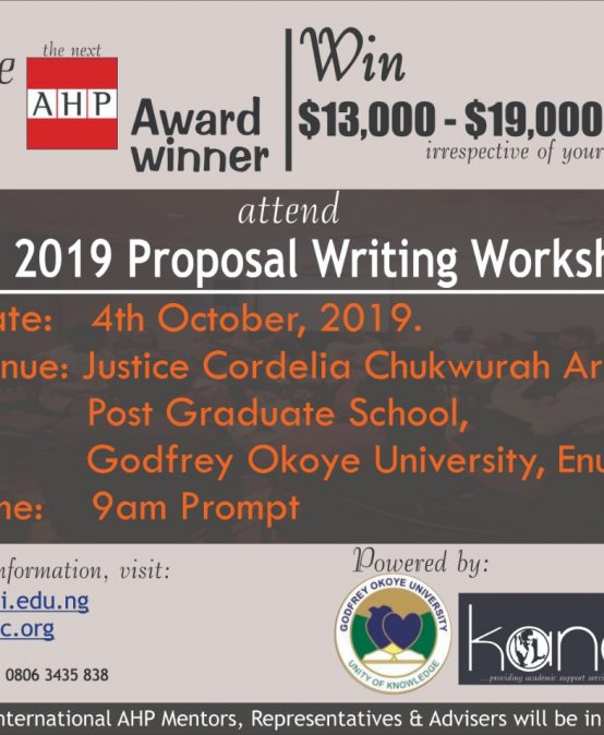 Be the next AHP Award Winner, Win $13,000 – $19,000!!! irrespective of your discipline
