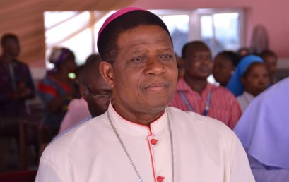 Godfrey Okoye University welcomes the Bishop of the Catholic Diocese of Nsukka, Most Revd. Prof Dr. Godfrey Igwebuike Onah