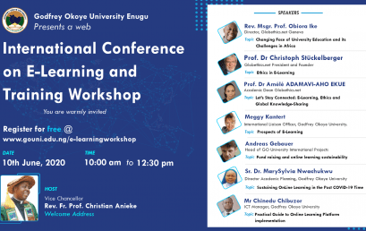 Free Registration – Godfrey  Okoye University First Zoom Conference on E-learning. Register Now!
