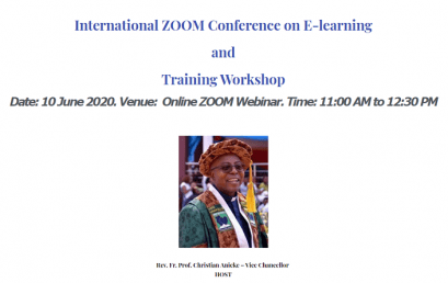 GODFREY OKOYE UNIVERSITY'S SUCCESSFUL WEBINAR ON E-LEARNING AND TRAINING WORKSHOP